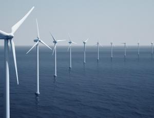 Windturbines on the ocean