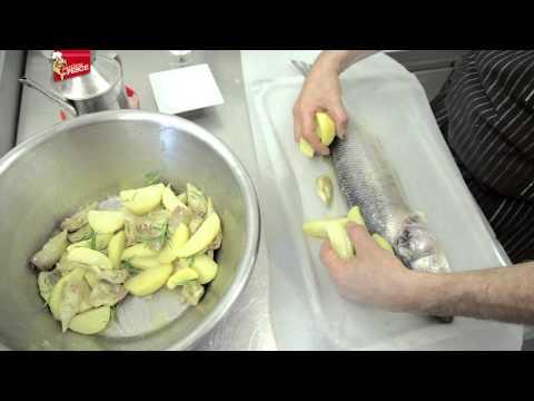 Spigola in cartoccio con Carciofi e Patate