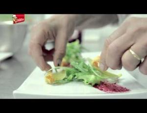 Misticanza di Insalate con Triglie in Agrodolce